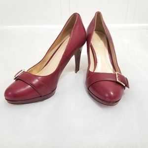 Cole Haan| 😍 Stunning Cherry Red Leather Pumps